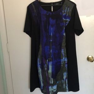 Vera Wang Watercolor Panel Dress